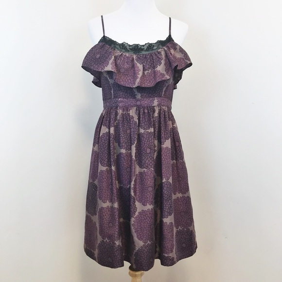 Anthropologie dresses anthro lil come what may ruffle silk flower anthro lil come what may ruffle silk flower dress mightylinksfo